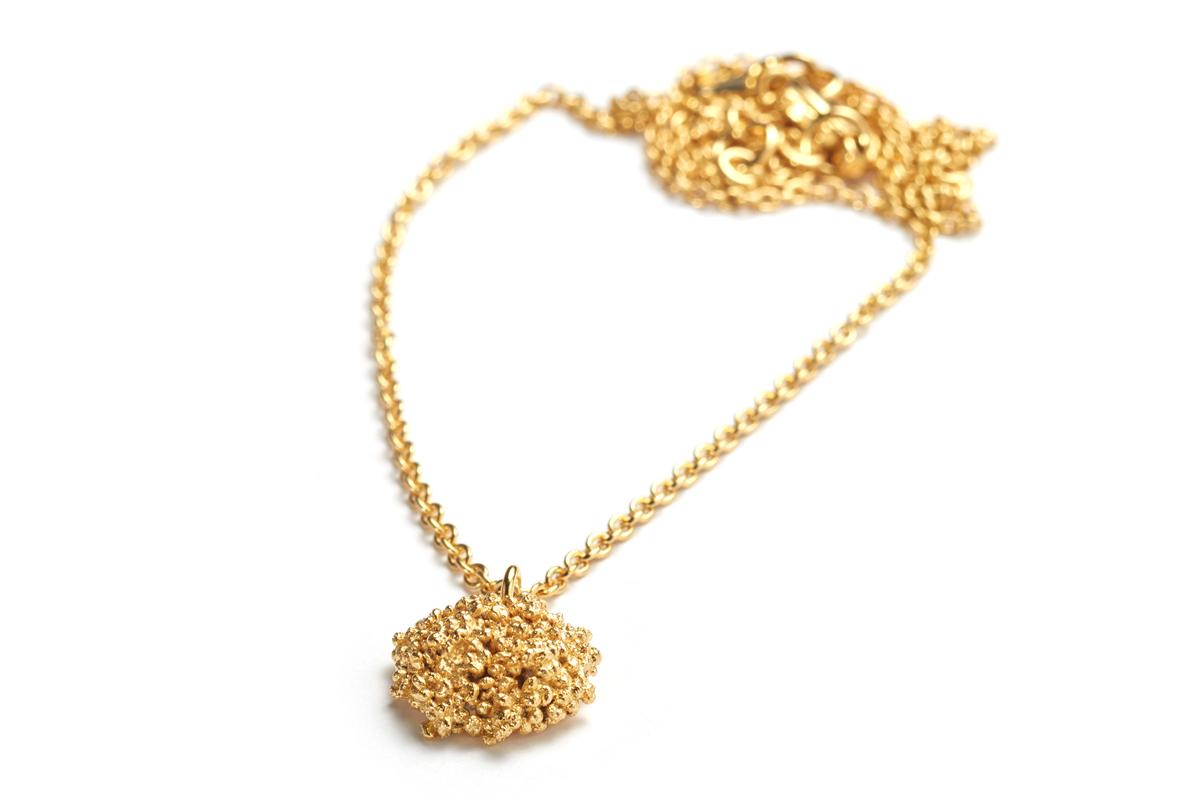 Alexandra Baum, Minibubblekette, Silber vergolde