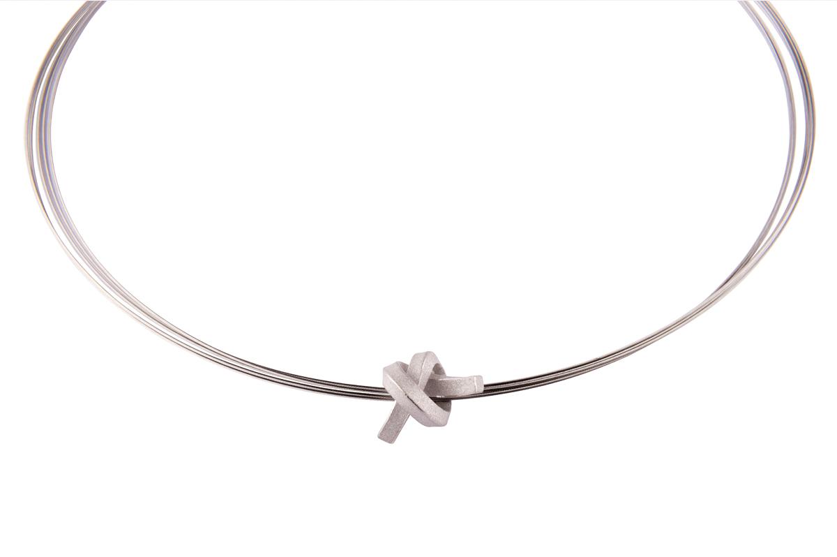 Martina Tornow, Mini Knoten kantig, Silber 925