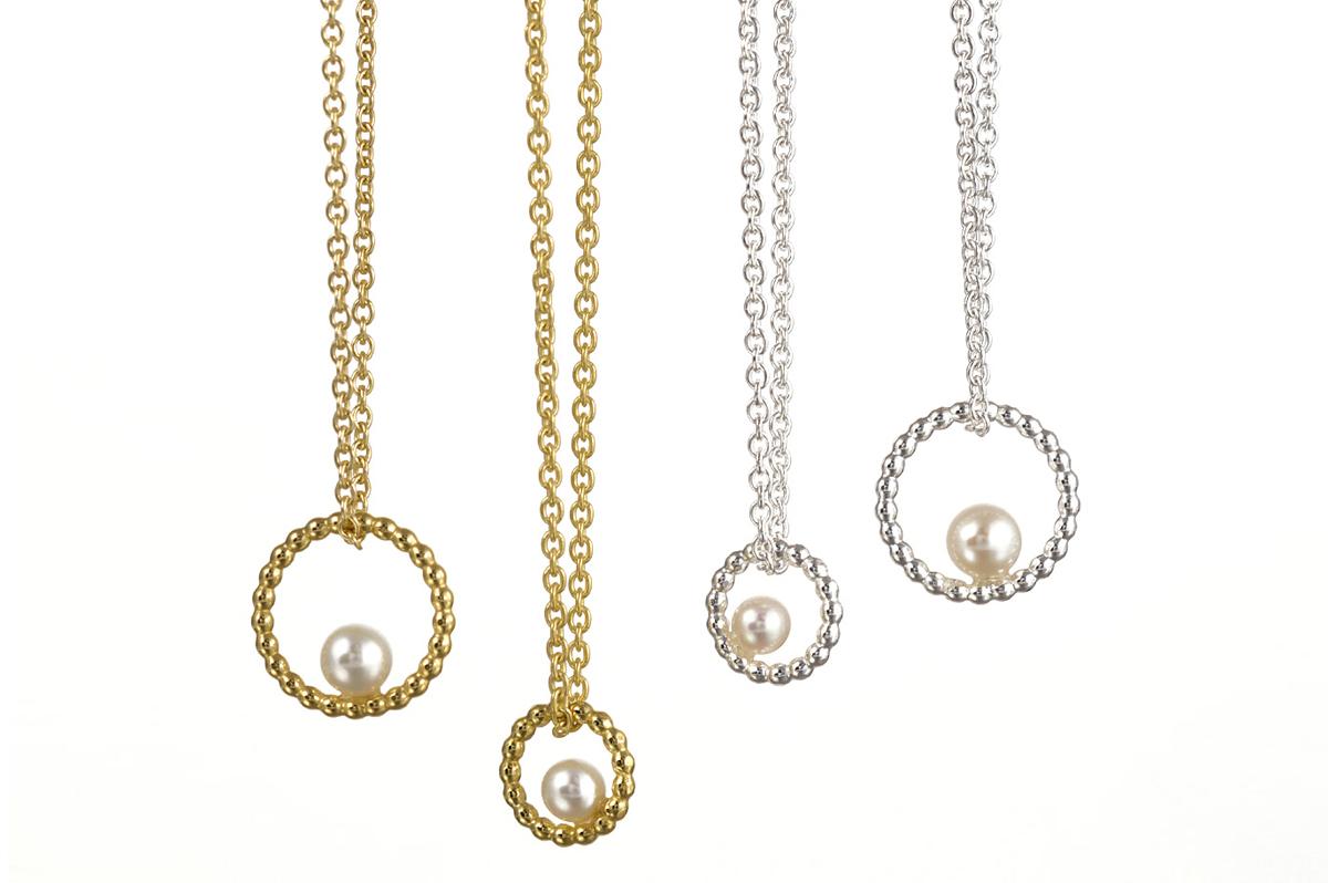 Yvonne Kurz, roundabout, Anhänger, Perlen, Gold, Silber