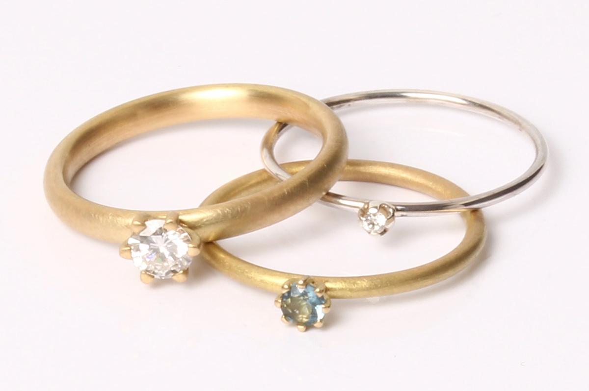 Küpper, Verlobungsringe, Aquamarin, Brillant, 750 Gold